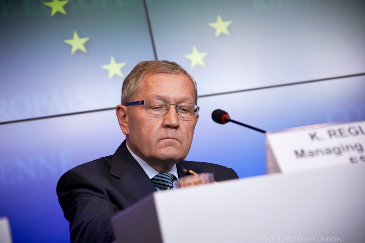 Klaus Regling, CEO of the European Stability Mechanism, at the Eurogroup, 19 June 2014 [Photo: Council of the EU]