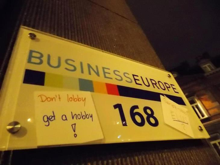 BusinessEurope office name plate