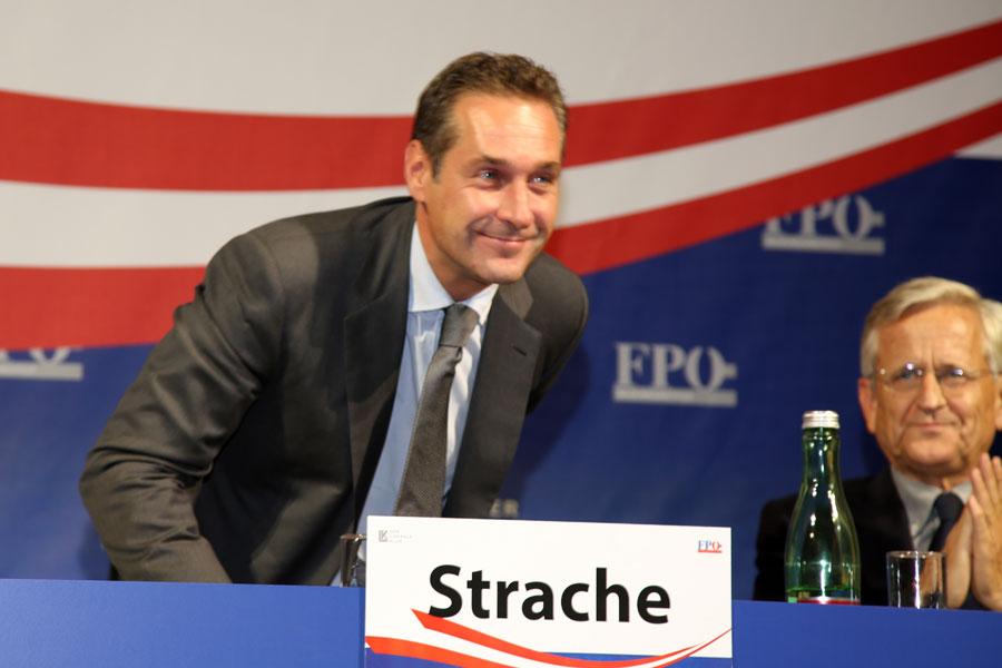 Heinz Christian Strache von der rechtspopulistischen Partei FPÖ