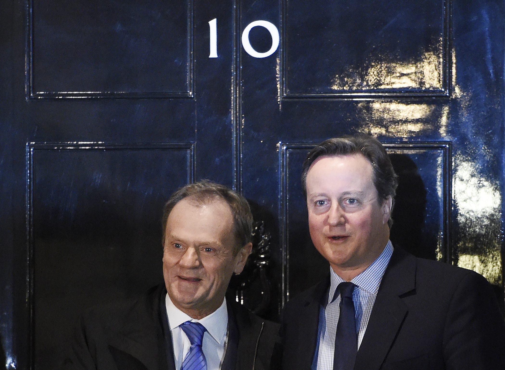 David Cameron und Donald Tusk verhandeln weiter über eine EU-Reform.