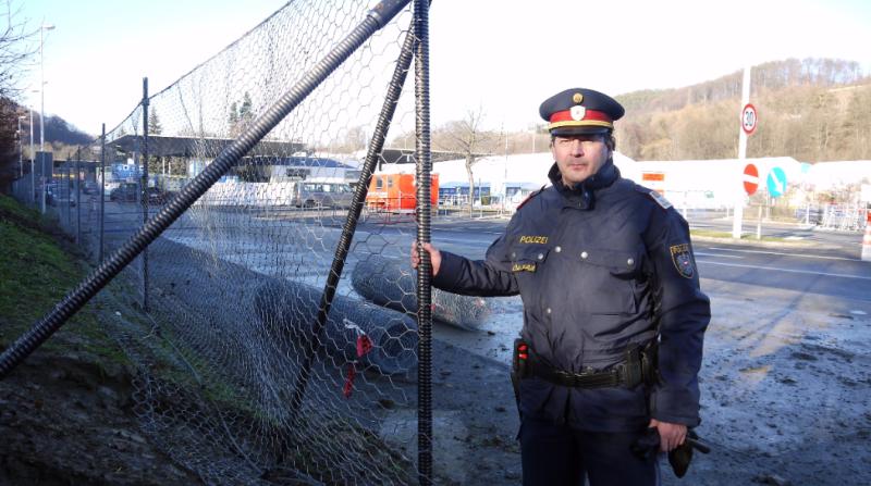Grenzübergang zwischen Österreich und Slowenien