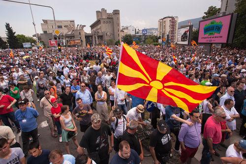 Mazedonien Albaner Demonstrationen