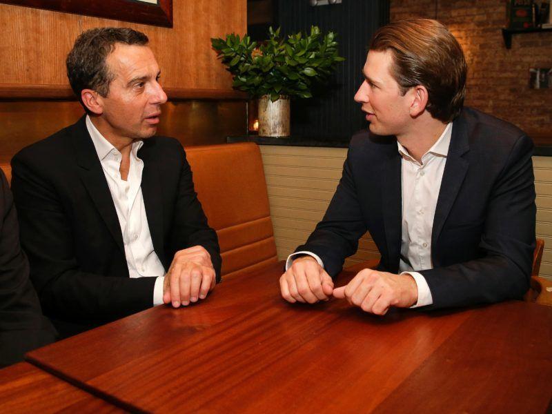Bundeskanzler Christian Kern (SPÖ) mit Außenminister Sebastian Kurz (ÖVP).