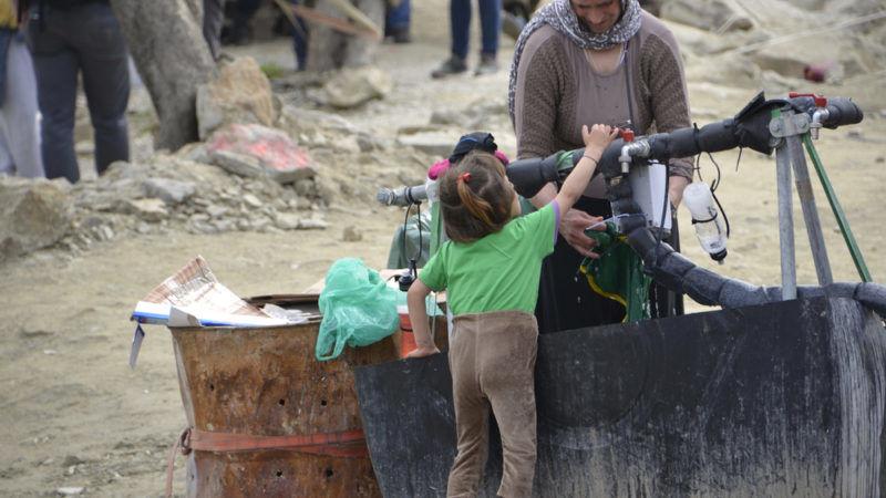 EU Flüchtlingslager Flüchtlinge Moria Lesbos