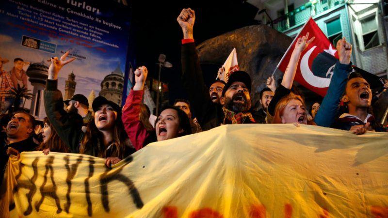 Proteste Istanb ul Türkei Präsidialsystem Erdogan