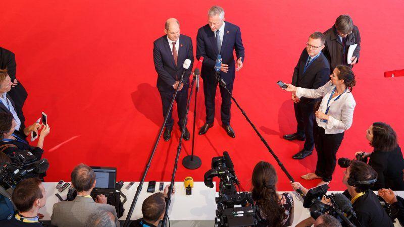 Bundesfinanzminister Olaf Scholz und Bruno Le Maire