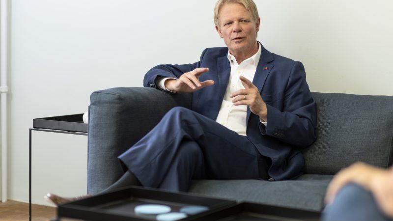 DBG-Cheff Hoffmann im Interview mit AFP, Beispielbild