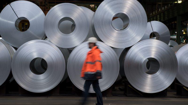 Stahl der Salzgitter AG im Lager