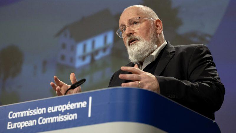 VIzekommissar Timmermans in Brüssel