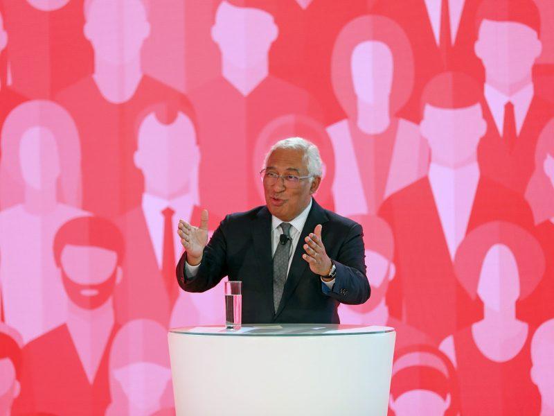 Portugals Premierminister Antonio Costa bei einer Vorveranstaltung zum Sozialgipfel