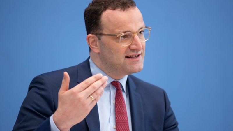 Jehns Spahn in der Bundespressekonferenz