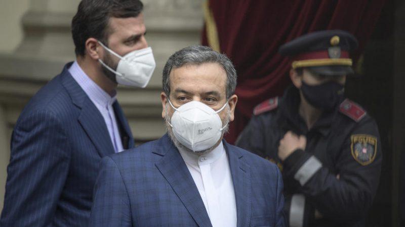 Iranische Regierungsvertreter bei den Verhandlungen in Wien