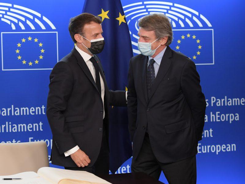 Sassoli und Macron bei der Konferenz zur Zukunft von Europa