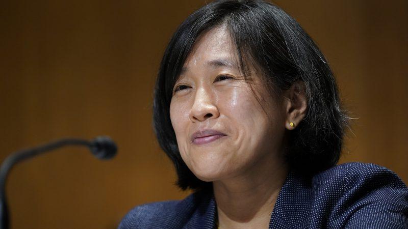 Katherine C. Tai während einer Anhörung im US Senat