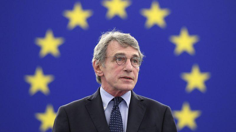 Sassoli eröffnet die Plenarsitzung im EU-Parlament